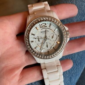 Fossil Women's Caleigh White Dial Watch